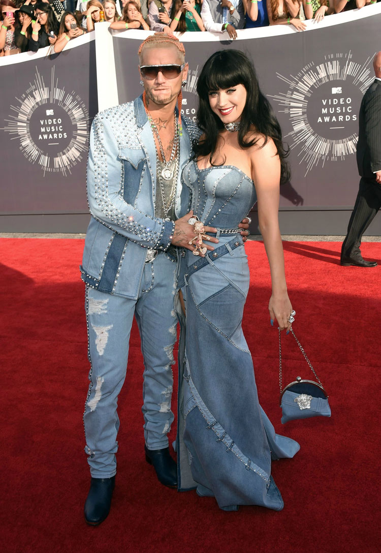 Riff Raff and Katy Perry in Atelier Versace at the 2014 MTV VMAS