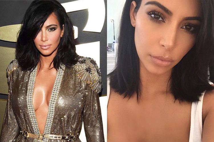 Kim Kardashian's Long Bob