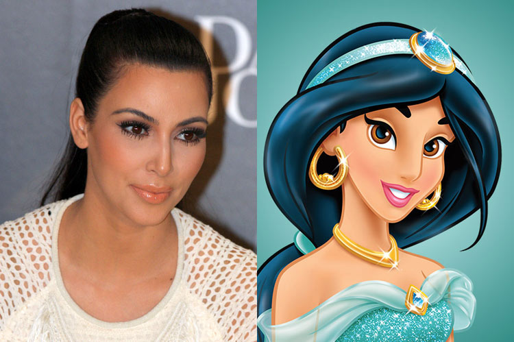 5 Celebrity Disney Princesses: Kim Kardashian
