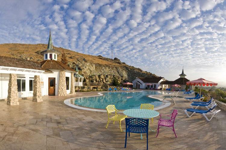 Madonna Inn hotel outside pool
