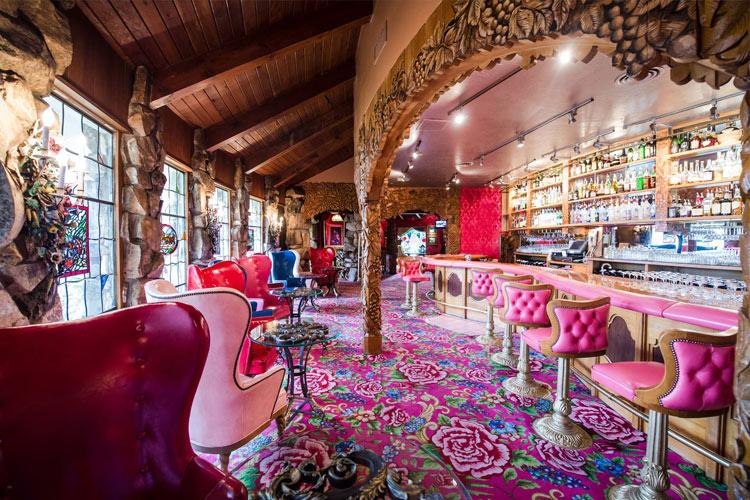 Silver bar at the Madonna Inn Hotel, California