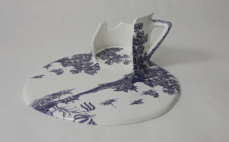 Livia Marin neonscope - melting porcelain cupslivia marin