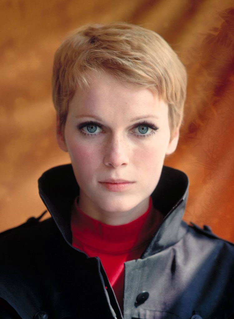 Mia Farrow's Pixie cut by Vidal Sassoon for 'Rosemary's Baby', 1968