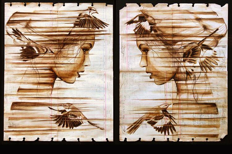 Coffee Art by Michael Aaron Williams