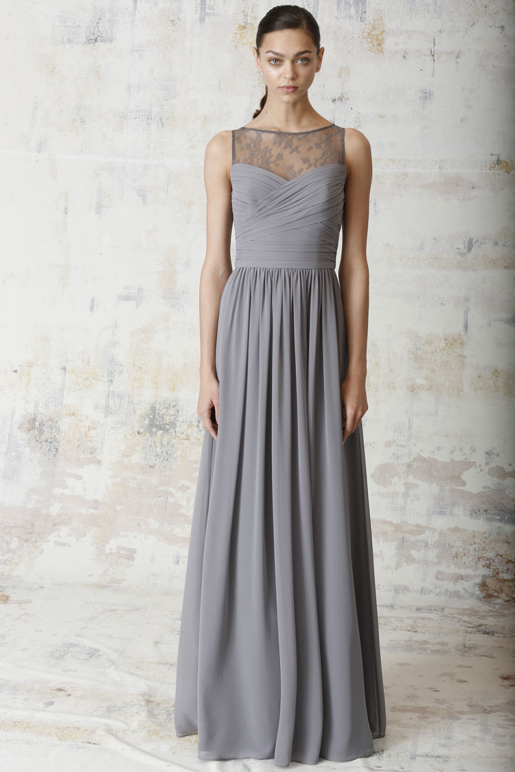 Neonscope 12 bridesmaid dresses by monique lhuillier for Gray dresses for a wedding
