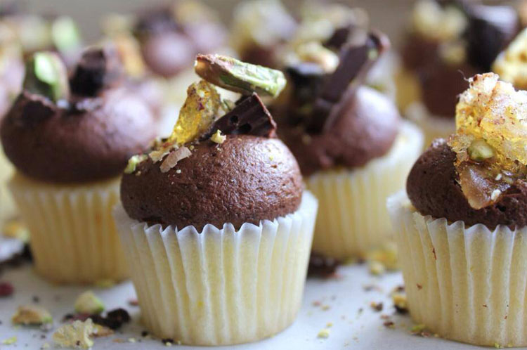 Chocolate and pistachio cupcakes by Nectar & Stone
