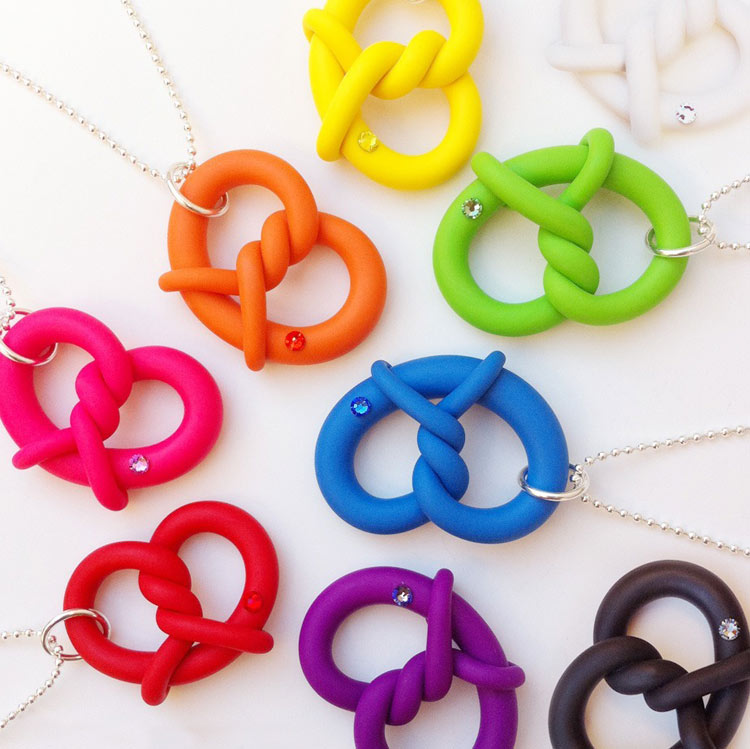 Onch Pretzels necklaces by Onch Movement