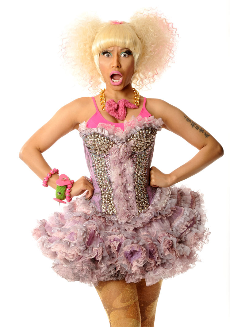 Nicki Minaj for the I Heart Music Festival wearing a Pink Fried Chicken necklace by Onch Movement