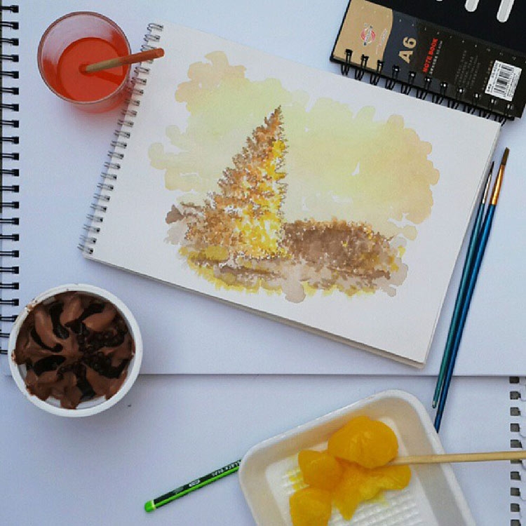 Ice Cream Paintings by Othman Toma