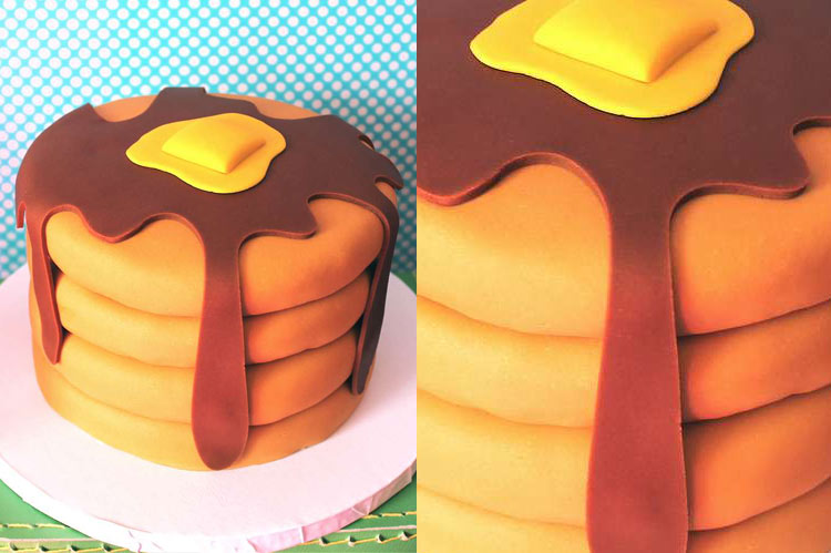 10 Small Cakes with Big Decorations: Pancake Cake