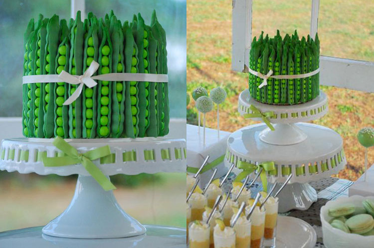 10 Small Cakes with Big Decorations: Pea Pod Cake