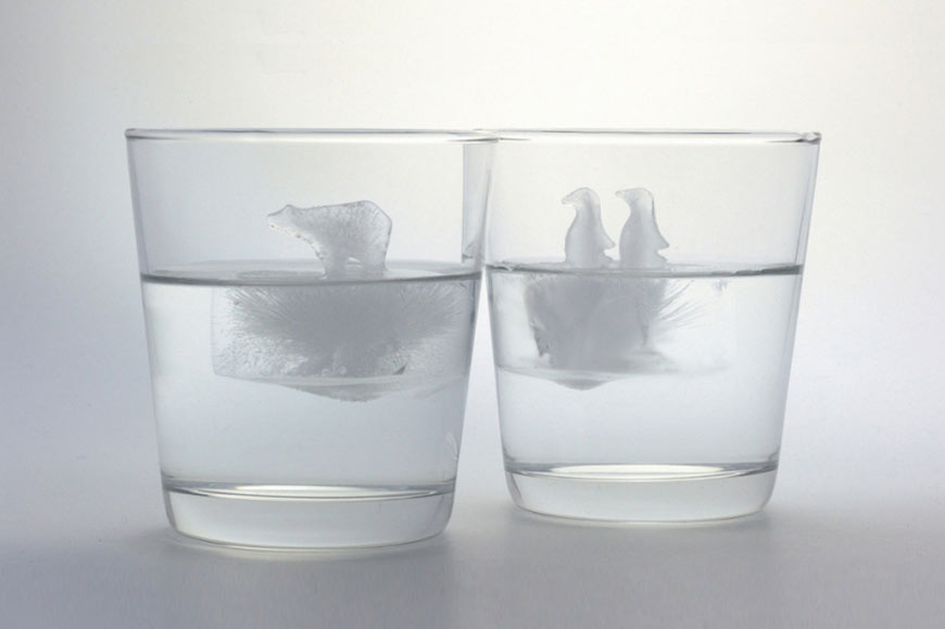 Penguin and Polar Bear Ice Cube Molds