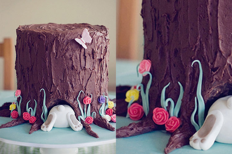 10 Small Cakes with Big Decorations: Rabbit Hole Cake