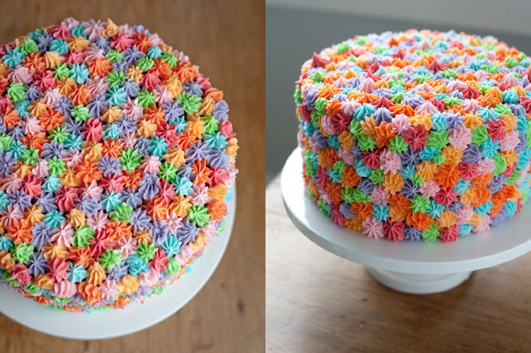 10 Small Cakes with Big Decorations: Little Rosette Cake