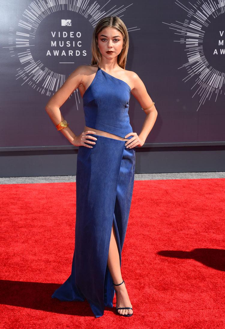 Sarah Hyland in Kaufman Franco at the 2014 MTV VMAS