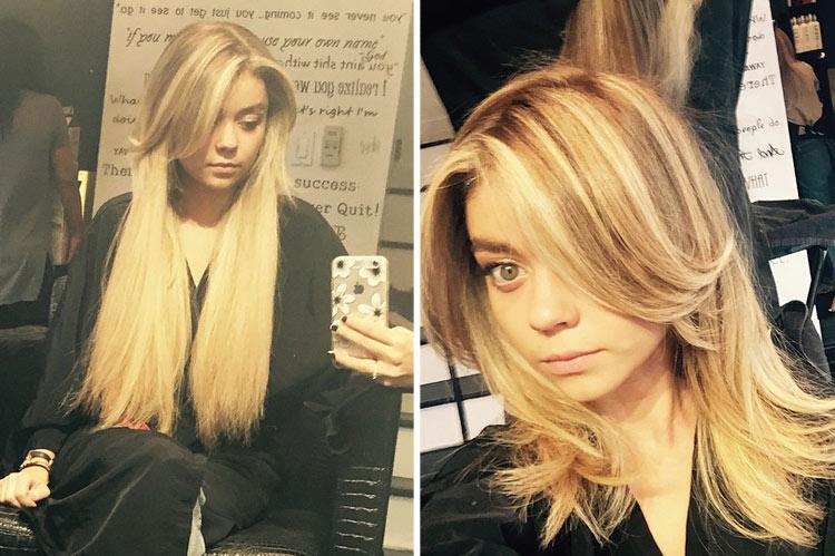 Sarah Hyland's amazing layered hairstyle