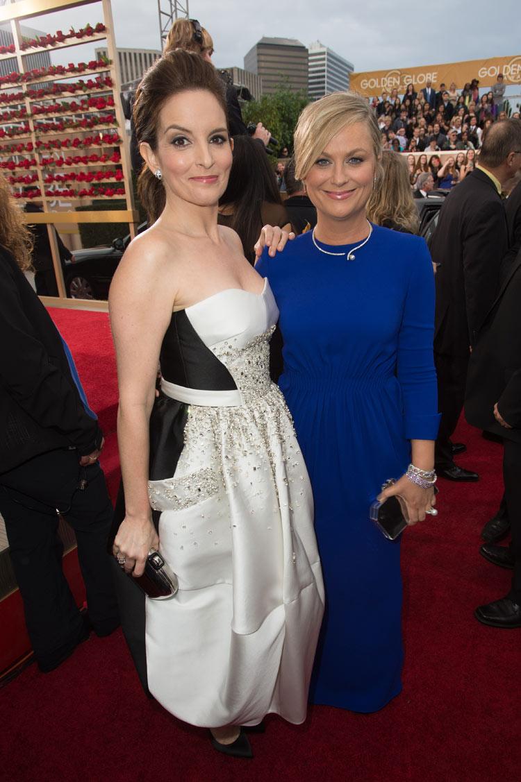 Tina Fey and Amy Poehler at the 2015 Golden Globe Awards