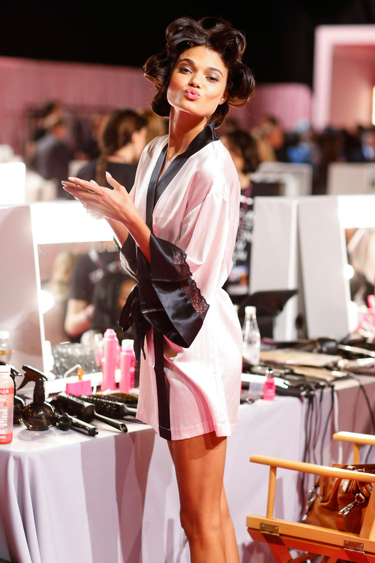 Daniela Braga backstage at the 2014 Victoria's Secret fashion show