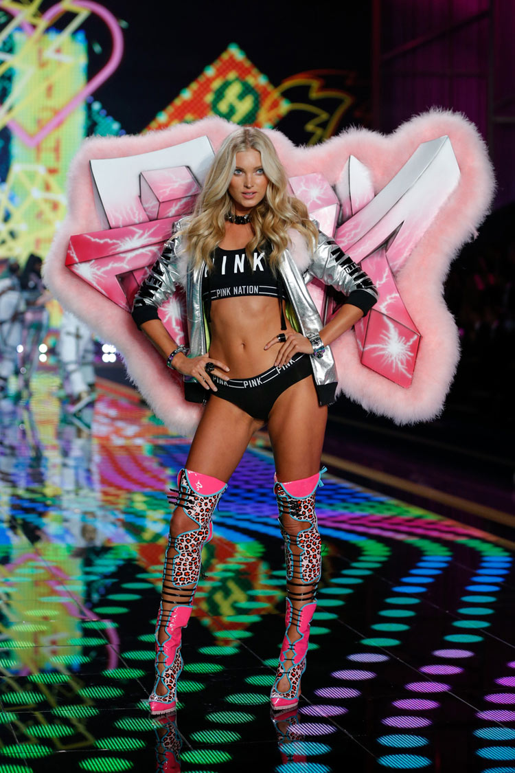 """University of Pink"", Elsa Hosk for the 2014 Victoria's Secret fashion show"