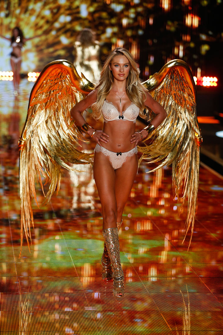 """Gilded Angels"", Candice Swanepoel for the 2014 Victoria's Secret fashion show"