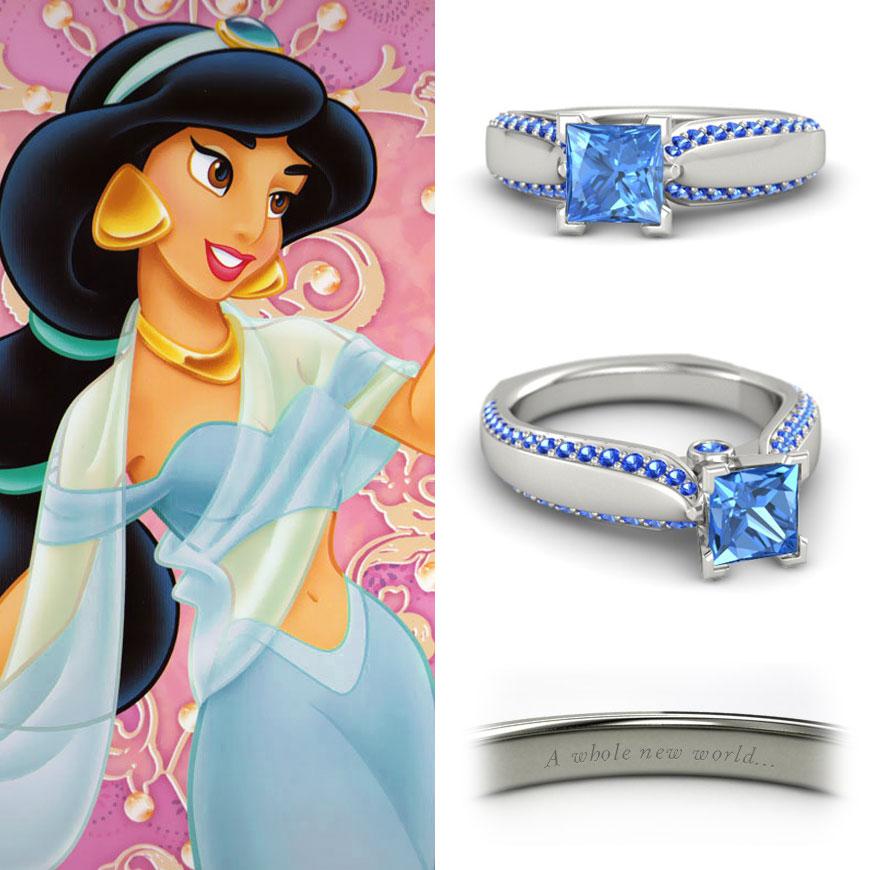 neonscope disney princess engagement rings