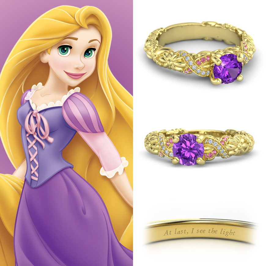 NEONSCOPE Disney Princess Engagement Rings