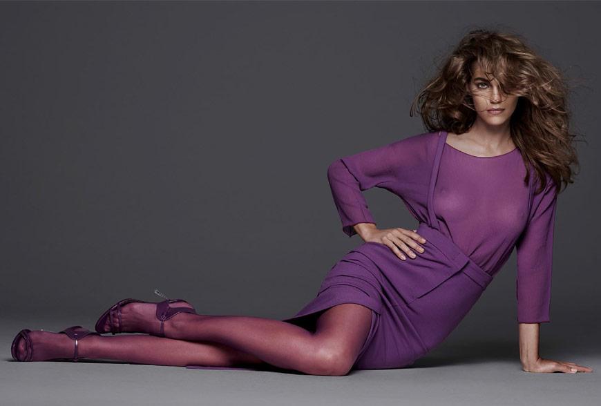Samantha Gradoville for Vogue Spain, Radiant Orchid Pantone color