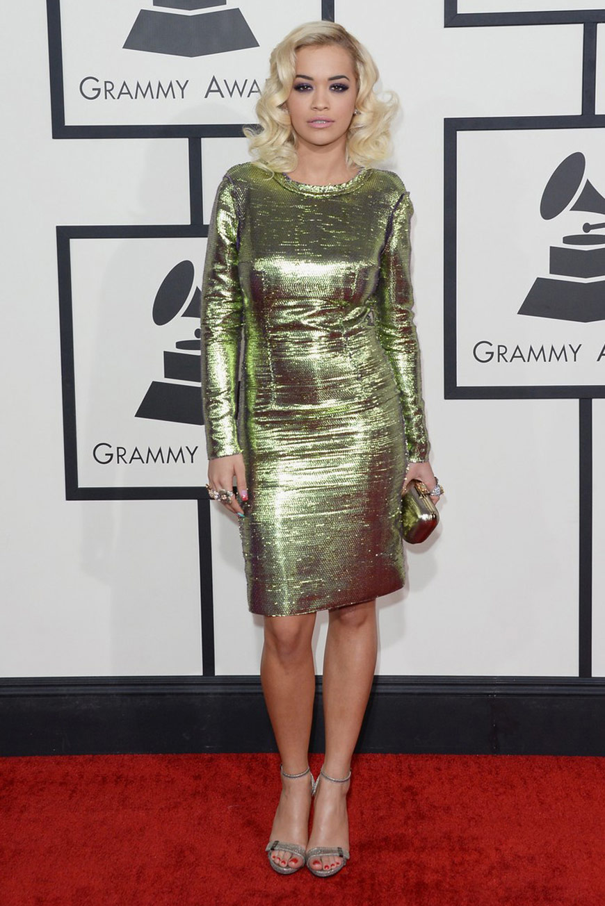 Rita Ora in Lanvin at the Grammy Awards