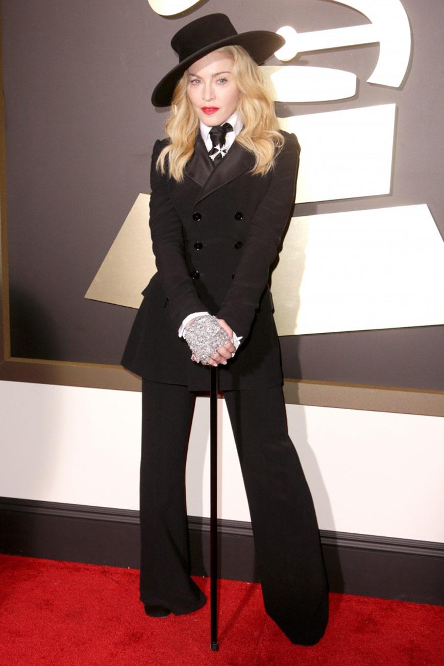 Madonna in Ralph Lauren at the Grammy Awards