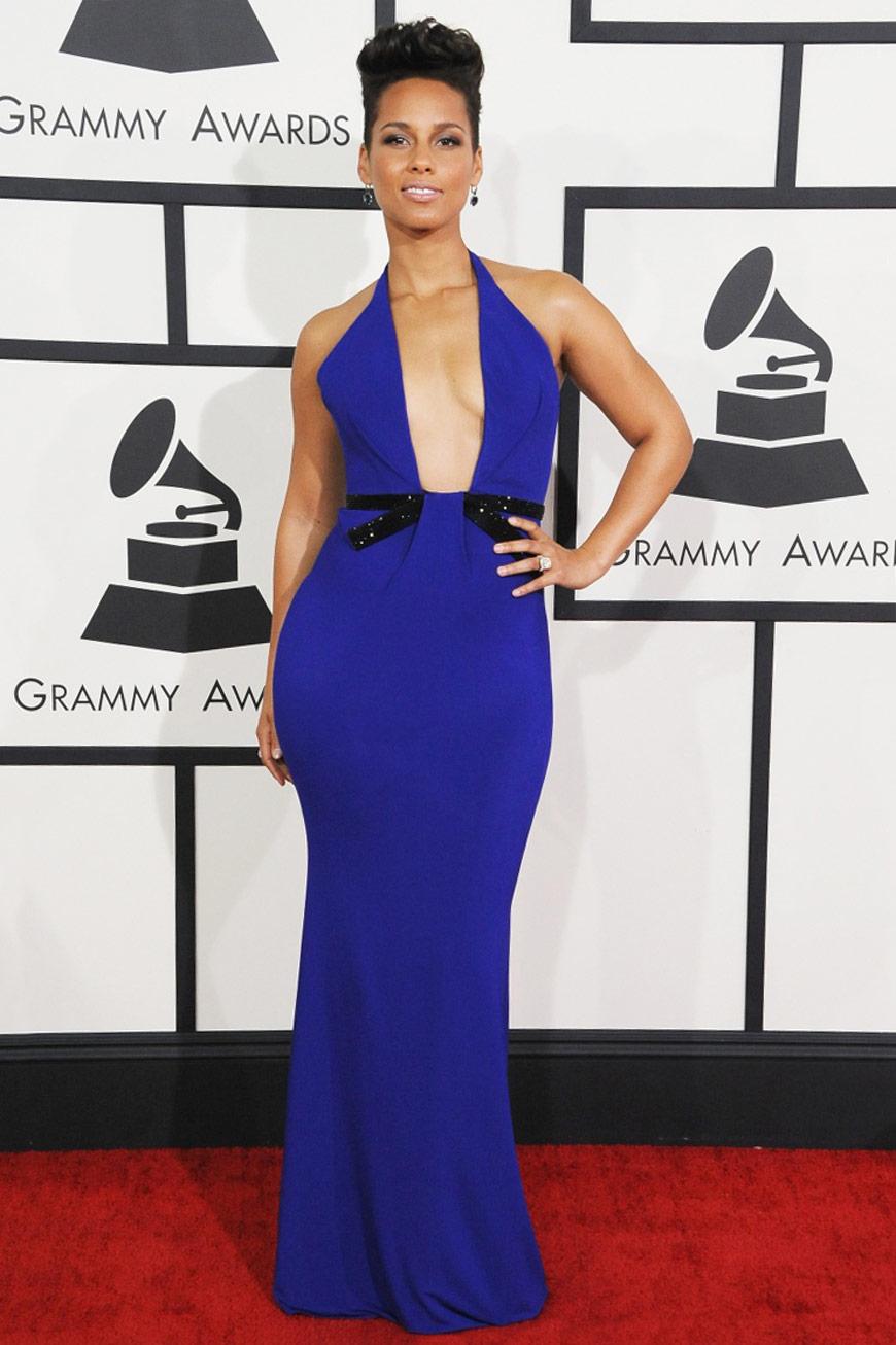 Alicia Keys in Giorgio Armani at the Grammy Awards