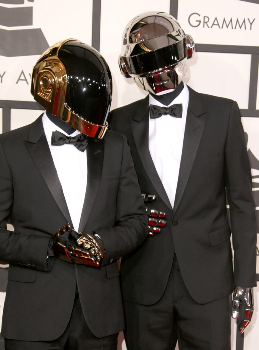 Daft Punk in Saint Laurent at the Grammy Awards