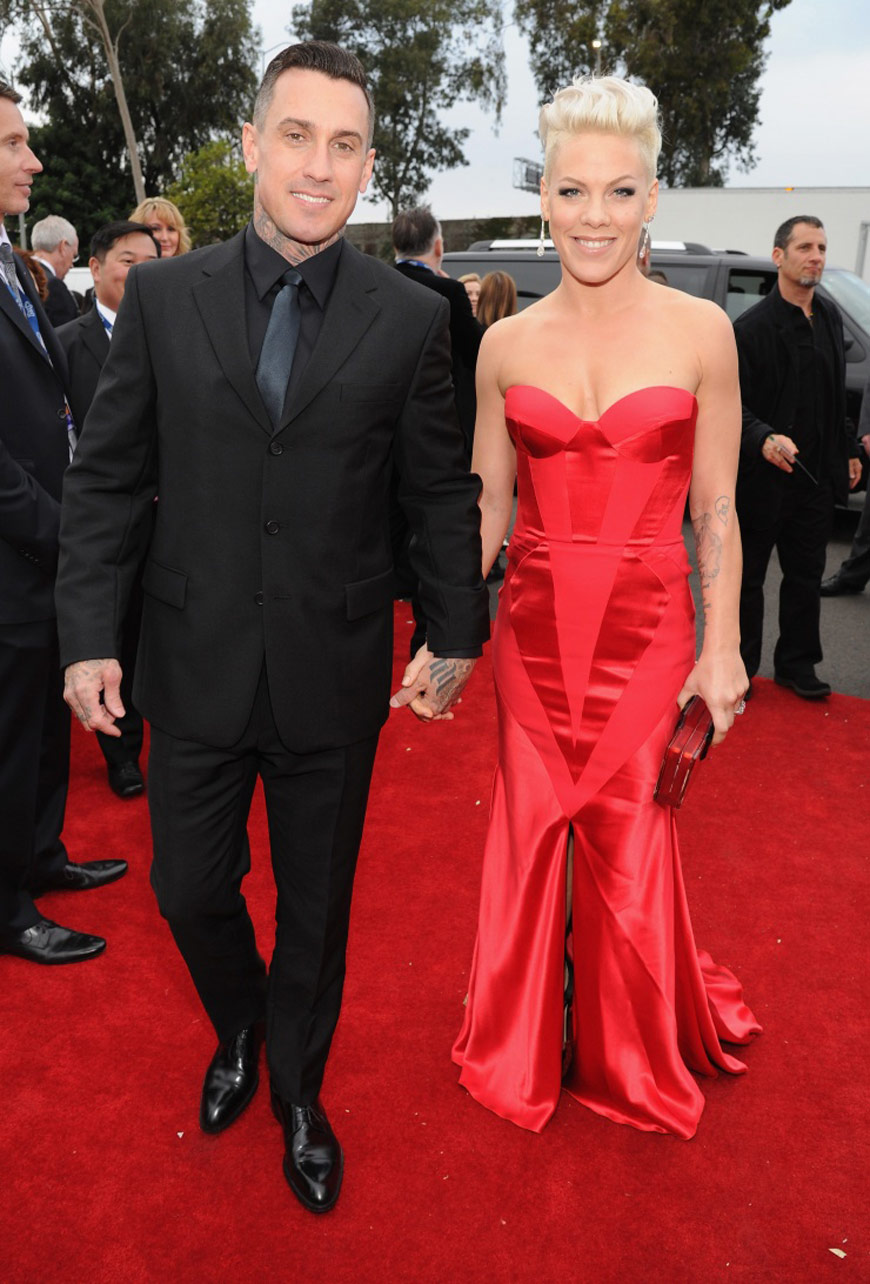 Pink in Johanna Johnson and Carey Hart at the Grammy Awards