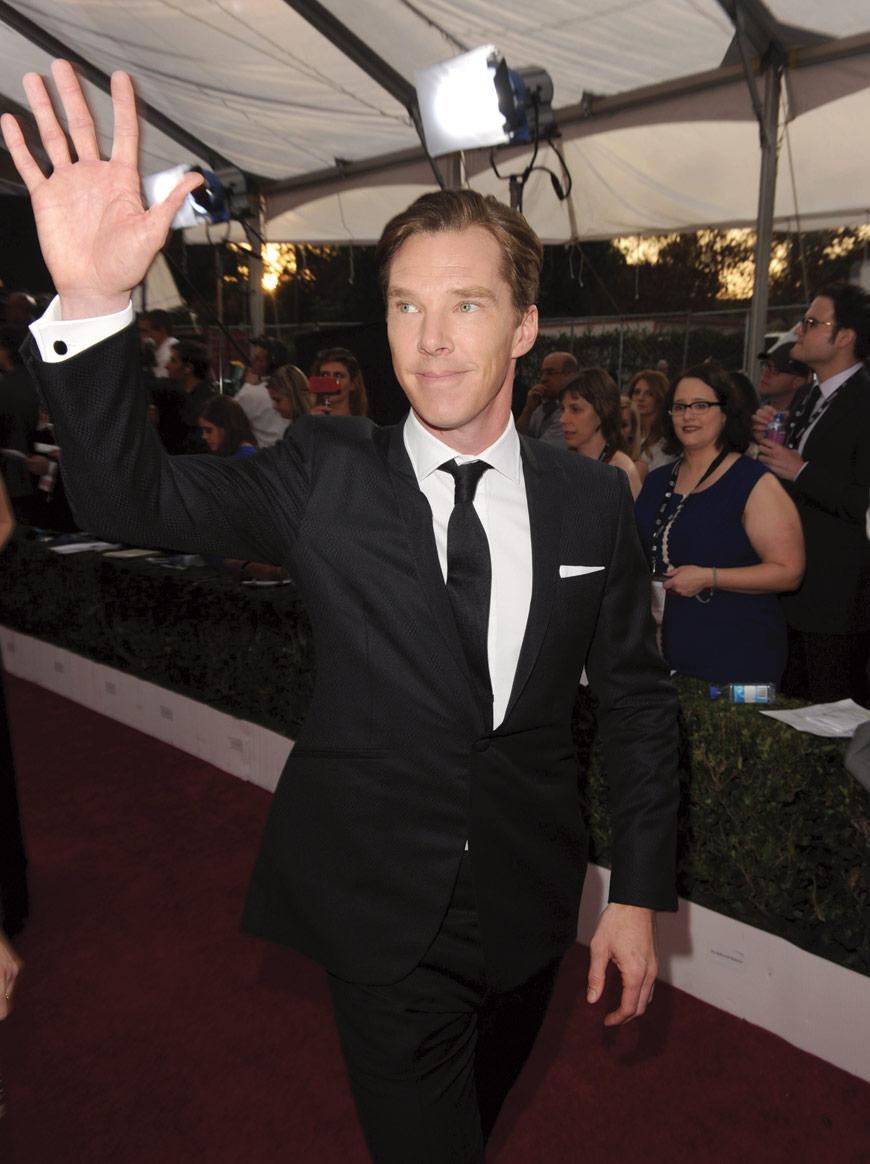 Benedict Cumberbatch in Dolce & Gabbana at the SAG awards