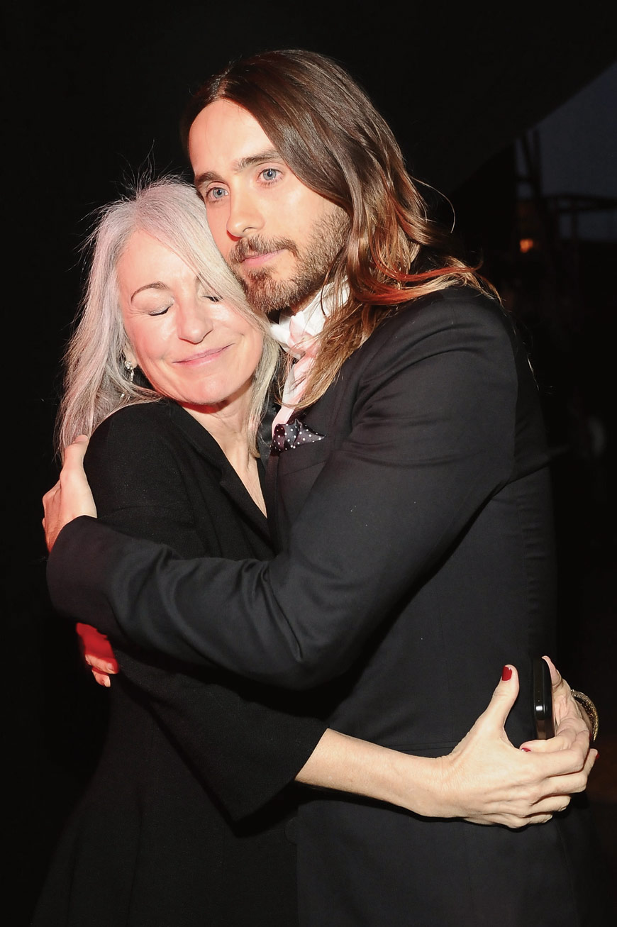 Mom Constance and Jared Leto in Dior Homme at the SAG awards