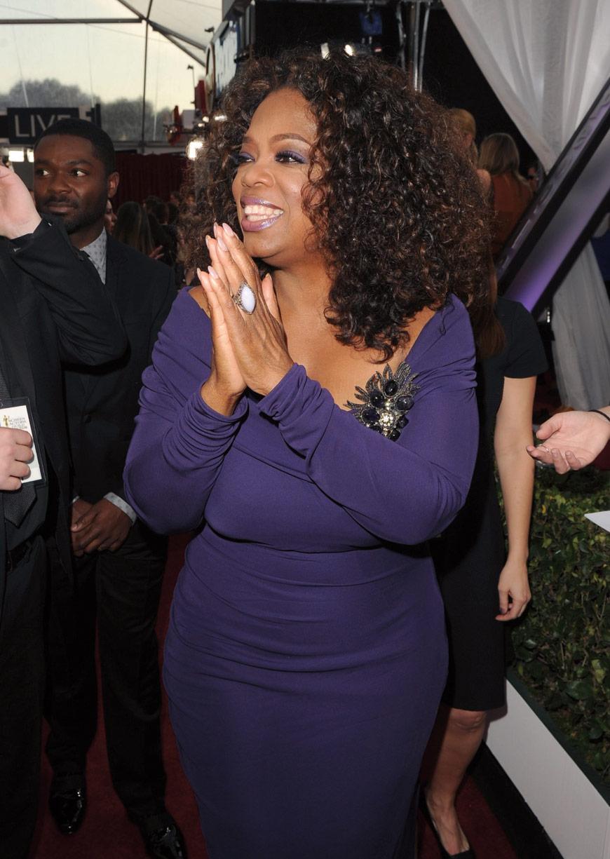 Oprah Winfrey in Badgley Mischka at the SAG awards