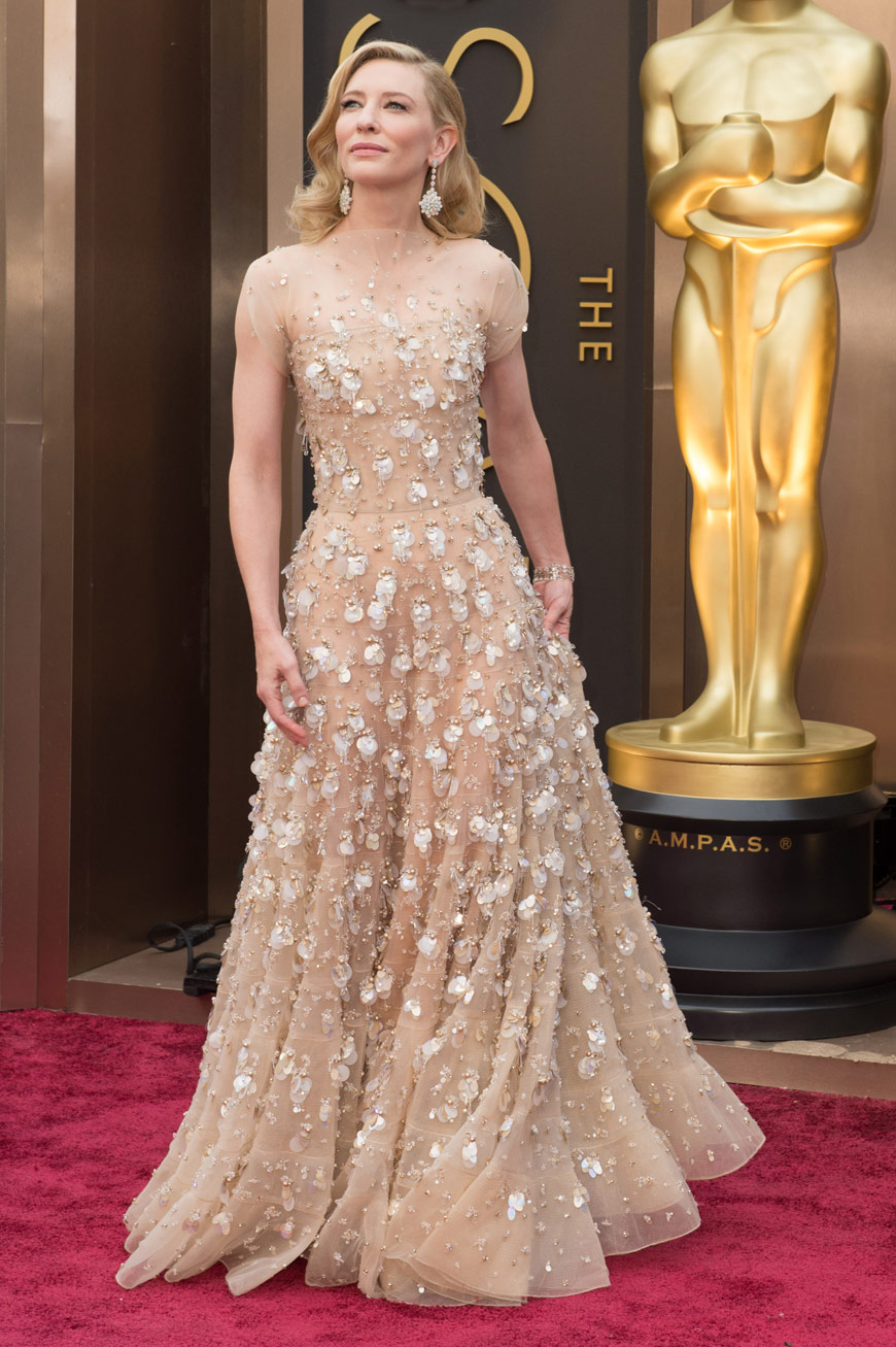 Cate Blanchett wearing Armani Privé at the Oscars