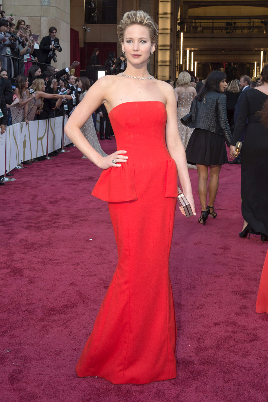 Jennifer Lawrence wearing Dior Couture at the Oscars