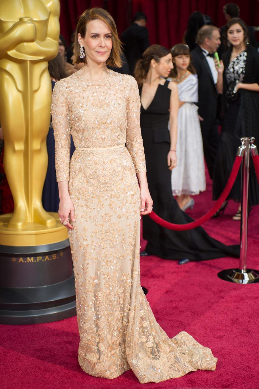 Sarah Paulson wearing Elie Saab at the Oscars