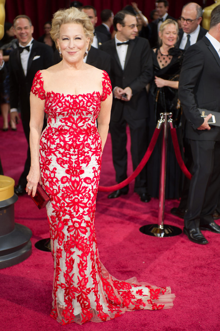 Bette Midler wearing Reem Acra at the Oscars