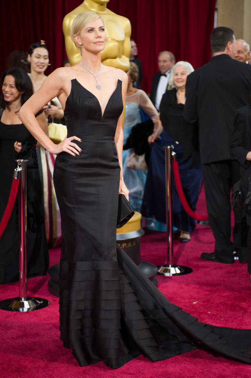 Charlize Theron wearing Dior Couture at the Oscars