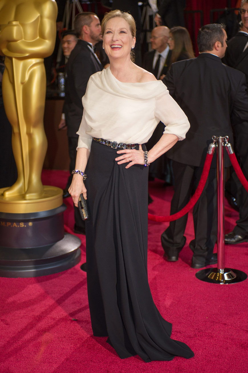Meryl Streep wearing Lanvin at the Oscars