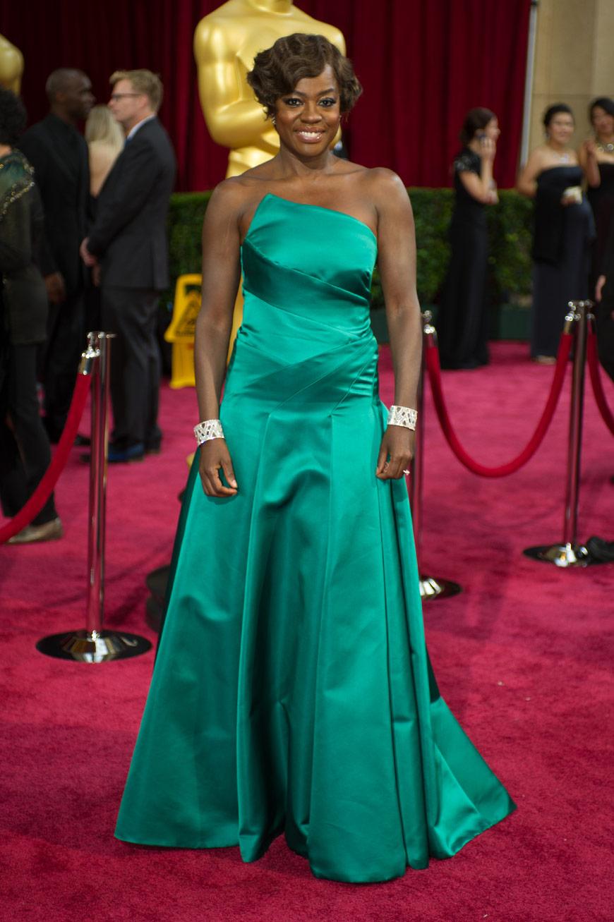 Viola Davis wearing Vera Wang at the Oscars