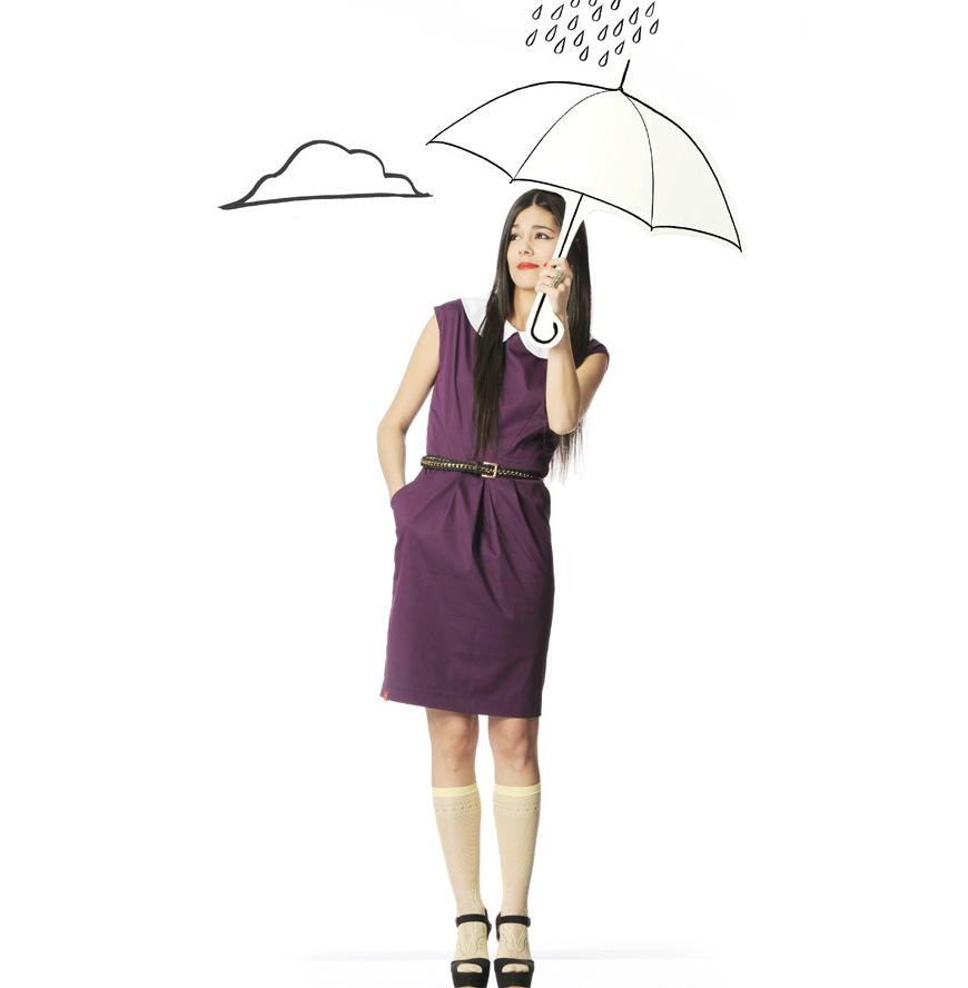 9647030acbee Violet Olivia dress by Bainha de Copas and umbrella