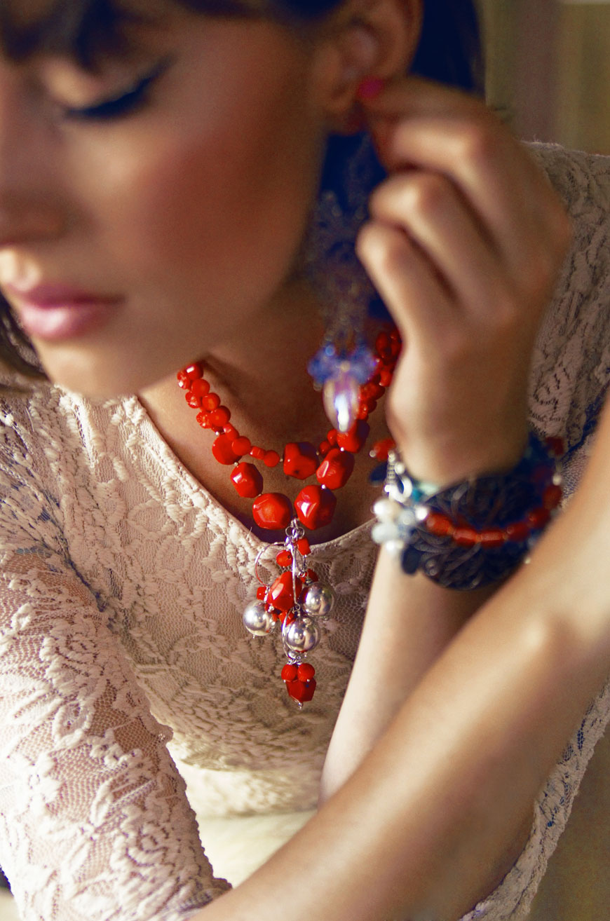Lipscani red necklace