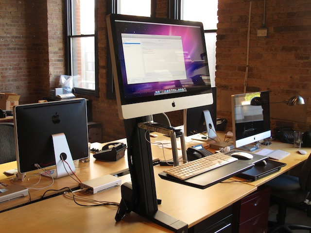 Convert a 27 iMac into a standing desk Neoteric Design