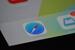 Close up of iPad Air screen