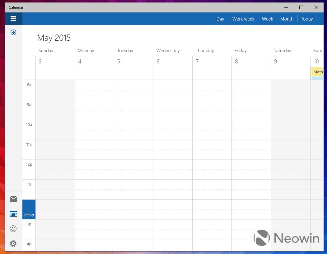 Windows 10 10051: A closer look at the new calendar app