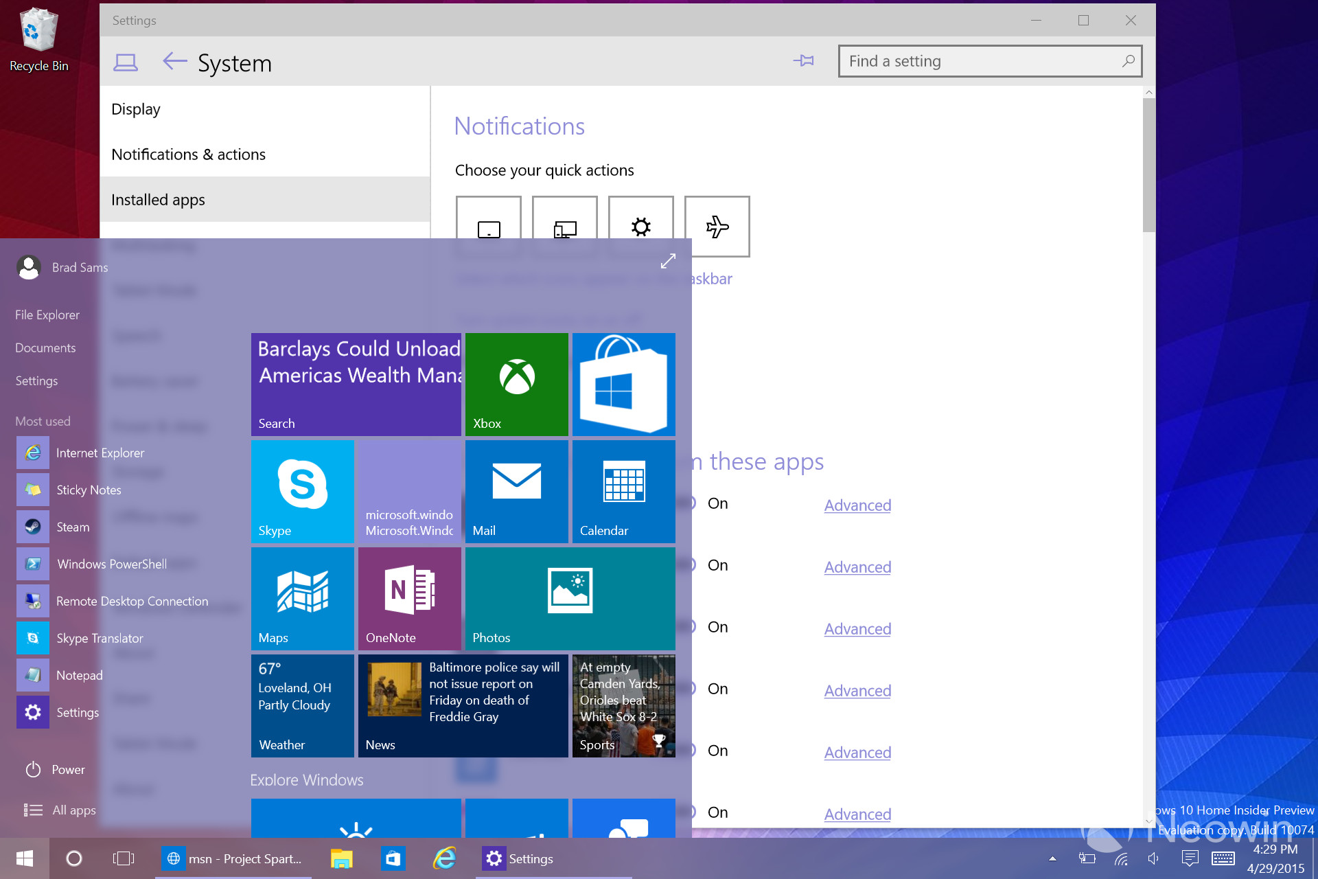 how to rollback insider preview win 10