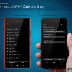 Connect to WiFi (WP8.1) / Date and time (W10M)