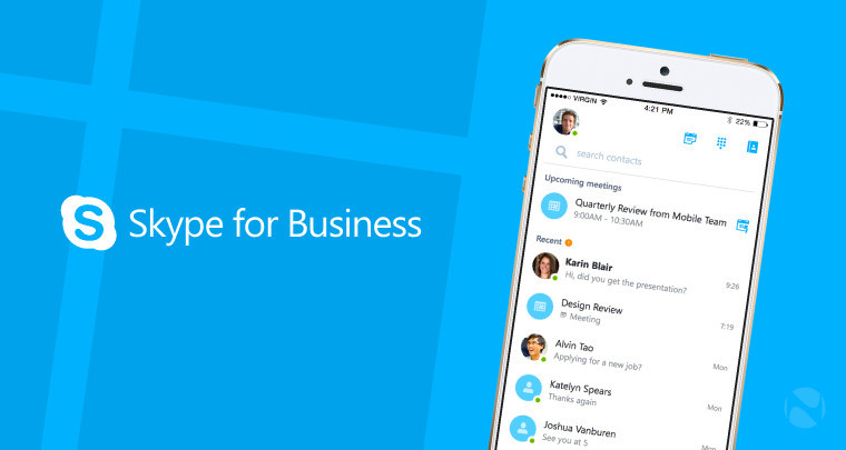 Microsoft updates Skype for Business on iOS and Android